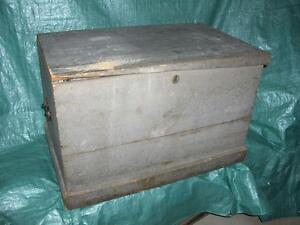 New PRICE -- Antique Pine Blanket Box - Circa 1880
