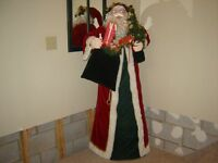 SELF STANDING SANTA CLAUS(5 FEET TALL)/CHRISTMAS DECORATIONS