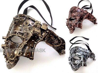 Steampunk Half Face Studs Masquerade Phantom Mask Dress up Prom Costume Party