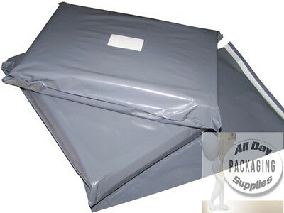 """5 GREY SELF SEAL POSTAGE MAILING BAGS SIZE 22 X 30"""" PLASTIC POLYTHENE POUCHES"""