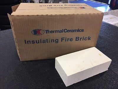 """K-20 Insulating Firebrick IFB 9"""" x 4.5"""" x 2.5"""" Thermal Ceramics Fire Brick K20"""
