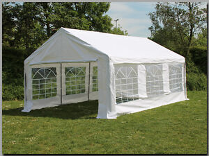 Partyzelt Festzelt Pavillon PE 4x6m 6x4m Marktstand Gartenzelt Zelt Verkaufszelt