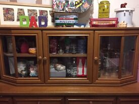 Beautiful sideboard and matching display unit