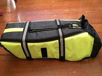 Yellow Reflective Dog Sport Coat Jacket Petco Clothes Medium Black