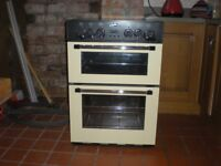 Belling cooker 60cms cream and black, ceramic top.