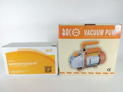 Bacoeng Vacuum Pump Manifold Gauge Set - Hvac Ac Refrigeration Kit - Open Box
