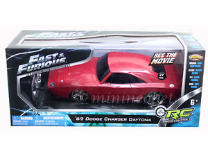 NIKOK FAST & FURIOUS RC RADIO REMOTE CONTROL 1969 DODGE CHARGER DAYTONA 1/24 RED