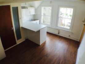Small characterful split level 1 bed flat - some bills included