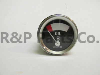 Oil Gauge For Farmall H M I O W4-9 T6 Cih 1939 - 1946 Early