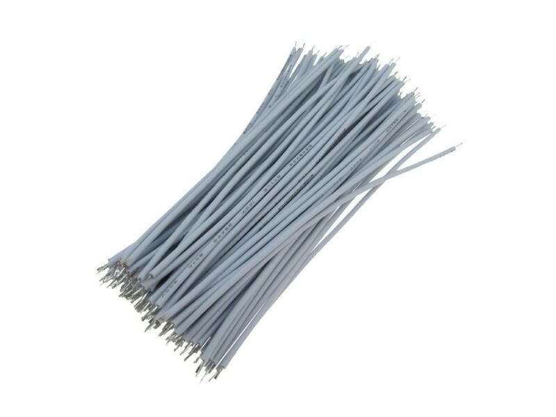 【4CM】 30AWG Standard Jumper Wire Pre-cut Pre-soldered - White - Pack of 300