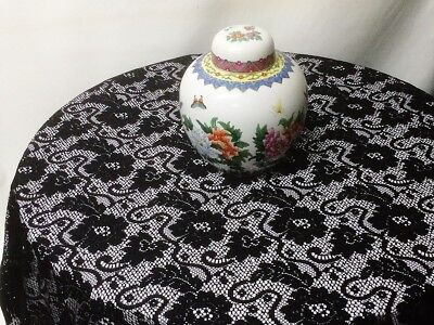 Lace Tablecloth Black 60
