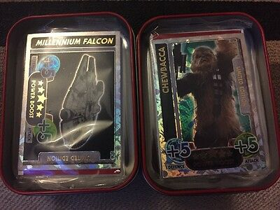 Star Wars Force Attax ~2 X Collectors Tins With 2 Limited Edition Card Pack