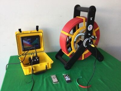 Recordable Sewer Camera Built-in 512hz Sonde For Pipe Video Inspections 100ft
