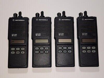 Lot Of 4 Motorola Mts2000 Radio Uhf 450-520mhz 160ch 4w Free Programming Gmrs