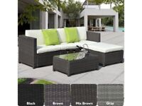 **FREE & FAST UK DELIVERY** Luxury Rattan Outdoor Garden Conservatory Corner Sofa