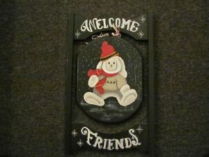 Two Sided Welcome Wall Hanger Kitchener / Waterloo Kitchener Area image 2