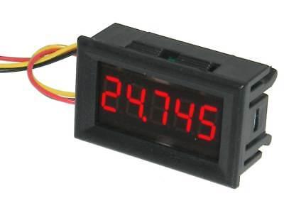 Mini Panel Meter Snap-in 5 Digit Red 30vdc 32711 Me