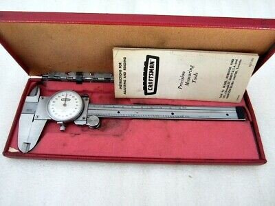 Vintage Sears Craftsman Dial Caliper 40172 Stainless Steel Made In Japan