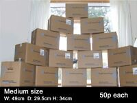 CARDBOARD BOXES MOVING/PACKING/STORAGE/REMOVAL/DOUBLE WALL Also ALL PACKAGING MATERIALS