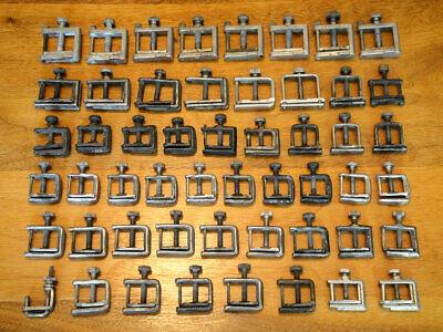 Lot Of 52 Vintage Chemistry Lab Hose Clamps Or Hosecocks Fisher Castaloy Etc.