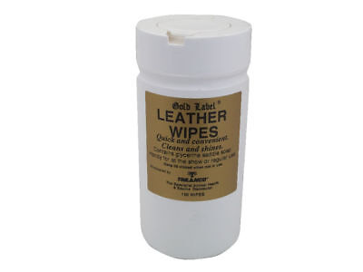 Gold Label Leather Wipes 100 Packs Glycerin Saddle Soap Horse/Pony Tack Cleaning