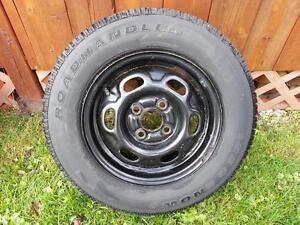 4 pneus hivers13 po sur jantes