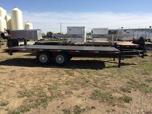 2014 Oasis Trailer Mfg Ltd 18HBP Industrial Flatdeck Trailer