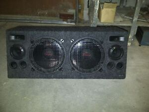 "10"" woofers,MTX Terminators, mids and highs all in one with amp!"