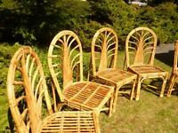 Exceptional handmade Dining/Patio  chairs –  bamboo - Set of 6 –