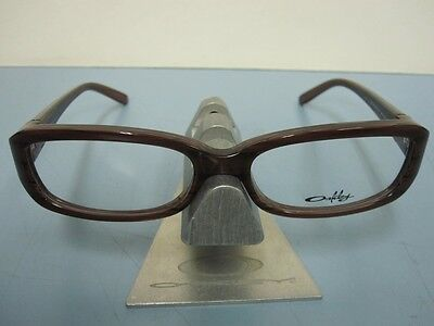 d3f14b959f2 OAKLEY womens CASSETTE brown horn OX1069-0252 RX eyeglass frame NEW in O  case