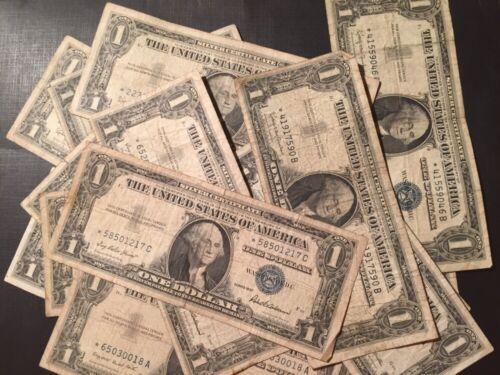 1957 1957A 1957B $1 Star* Bill Silver Certificate Well Circulated ...