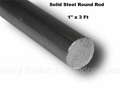 Steel Solid Round Stock 1 X 3 Ft Unpolished Cold Finish Rod Alloy 1018