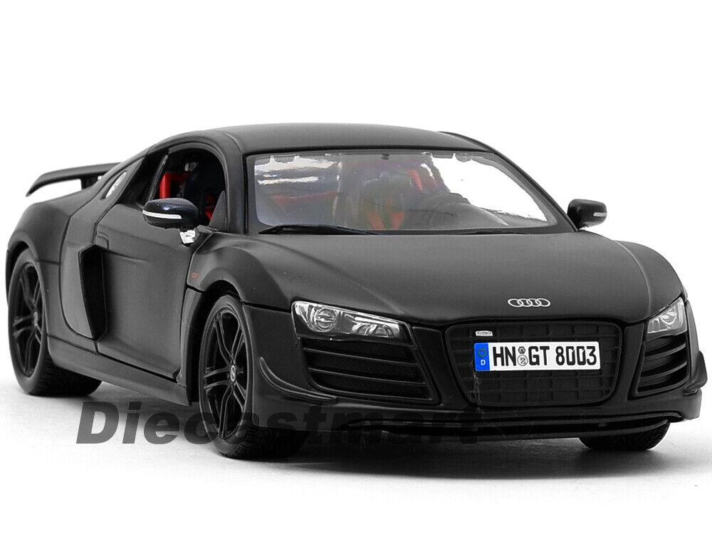 Audi R8 Matt Black 1:24 Diecast Model Car Maisto 31281MBK *