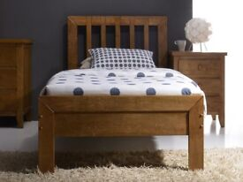 Single bed frame, Comfortable, Solid wood with matress