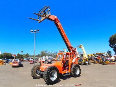 2012 Skytrak 8042 42 8000 Lbs Telescopic Reach Forklift Telehandler Bidadoo