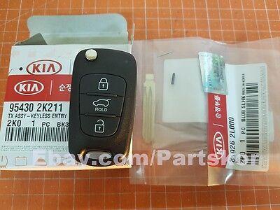 For 2010~2013 KIA SOUL Keyless Remote Control Folding Key Genuine 95430 2K211