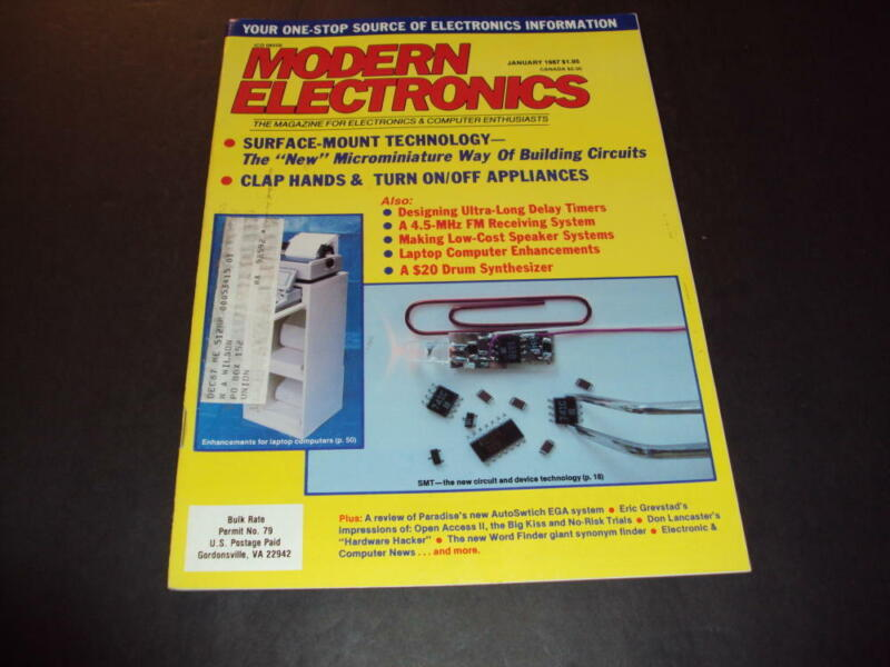 Modern Electronics Jan 1987 Surface Mount Technology   ID:40046