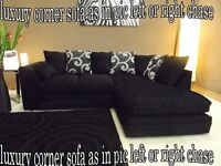 BANK HOLIDAY GOOD SALE OFFER ZINA luxury corner sofa as in pic left or right chase fast delivery