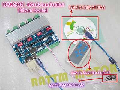 4 Axis Nema23 Tb6560 Usbcnc Stepper Motor Driver Controller Board For Cnc Router