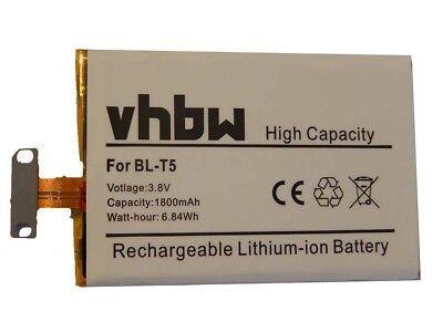 Akku Batterie 1800mAh für LG Google Nexus 4, Nexus 4 16GB EAC61898601 ()
