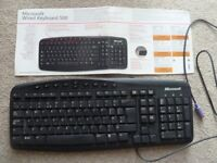 Microsoft wired keyboard 500 for desktop computer