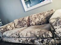 Csl sofoligy 4 seater sofa settee n chair crushed velvet