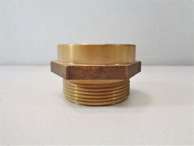 Lot Of 6 Fire Hose Hex Nipple Adapter 2.5 Brass