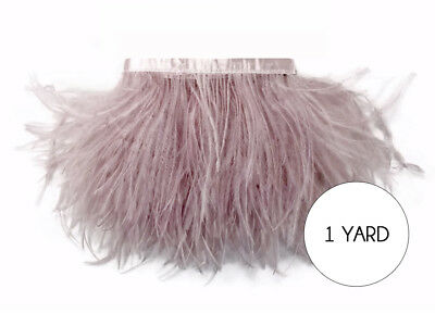 1 Yard - Taupe Ostrich Fringe Trim Wholesale Feather Craft Prom Dress - Wholesale Craft Suppliers
