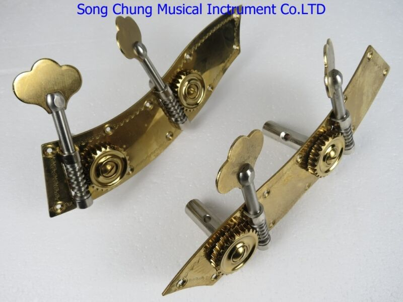 one set of Double bass machine head pegs 4/4&3/4,unite style,double bass part