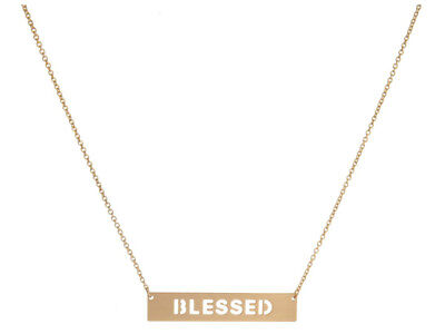 Blessed Dainty Bar Pendant Necklace ~ Gift Idea!](Necklace Ideas)