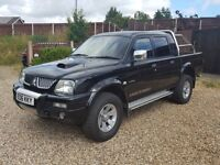2006 Mitsubishi L200 Warrior, VGC, Leather, P/X & Credit Cards Welcome, No VAT