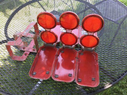 Vintage Miro Flare 18 Miro-Flex Emergency Collapsible Roadside Reflectors