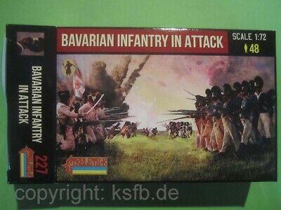 1:72 Strelets #227 Napoleon Bayern Infanterie im Angriff vorgehend Bavarians