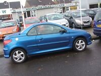 PEUGEOT 206 ALLURE S COUPE CABRIOLET (blue) 2003